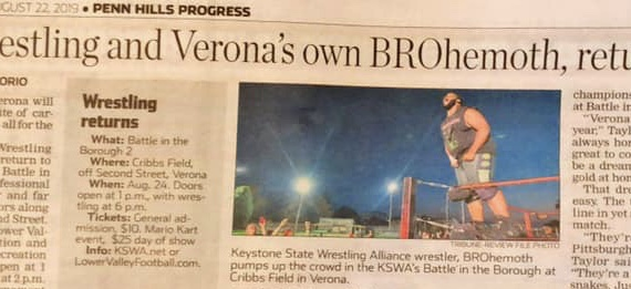 Pro wrestling, including Verona's own BROhemoth, return to Cribbs Field